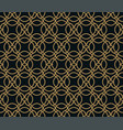 seamless pattern graphic lines ornament floral vector image