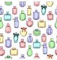 Seamless pattern with different bottles of woman vector image vector image