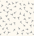 seamless pattern with trace bird paws vector image