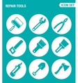 set of round icons white Repair tools cushion vector image