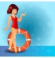 sexy girl wearing swimsuit vector image vector image