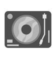 Simple black turntable vector image