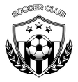 Soccer club logo on white vector image vector image