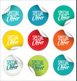 special offer sale tag collection vector image