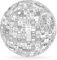 sphere with squares and rectangles vector image