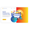 startup landing page seo vector image vector image