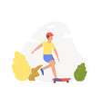 teenager on a skateboard vector image