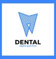 teeth line logo vector image vector image