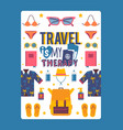 travel inspiration poster vector image vector image