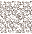 vintage cranberry seamless pattern vector image vector image