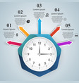watch clock icon abstract infographic vector image vector image