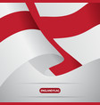 waving england flag vector image