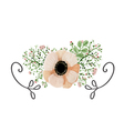 Wedding poppy flower vector image vector image