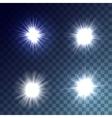 white suns set vector image
