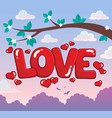 word love theme image 3 vector image vector image