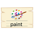 wordcard template for word paint vector image