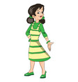 young girl gesturing vector image vector image