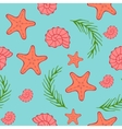 Seamless sea pattern Blue background vector image