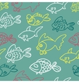 fish doodle vector image