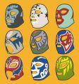 wrestling masks vector image