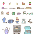 Collection of baking items vector image