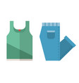 t-shirt and folded jeans icons vector image
