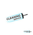 abstract cleaning logo template eps10 vector image