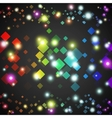 Abstract square glowing circles with lights and vector image