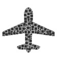 airplane collage of squares and circles vector image