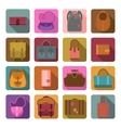 Bags colored flat icons set vector image vector image