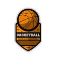 basketball minor sporty league vintage label vector image vector image