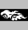 big eyes eyes silhouette in black vector image vector image