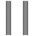 black and white tire track vector image vector image