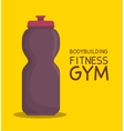bottle water bodybuilding fitness gym icon design vector image