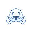 bow tie emoji line icon concept bow tie emoji vector image vector image