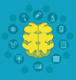 brain and education vector image vector image
