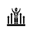 business competition black icon sign on vector image