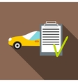 Car and car Insurance form icon flat style vector image