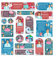 cardiology neurology acupuncture medicine doctor vector image vector image
