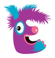 cartoon capital letter e from monster alphabet vector image vector image