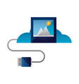 cloud computing connector vector image