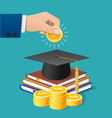 college investment vector image vector image