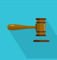 court icon flat style vector image