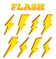 creative of thunder and bolt vector image vector image