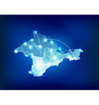 Crimea country map polygonal with spot lights plac vector image vector image
