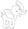 cute cartoon baelephant coloring page vector image