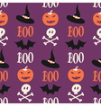 cute halloween seamless pattern vector image vector image