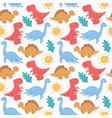dinosaur seamless pattern colorful dinosaurs vector image