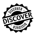 Discover rubber stamp vector image