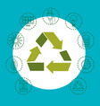 eco friendly objects design vector image vector image